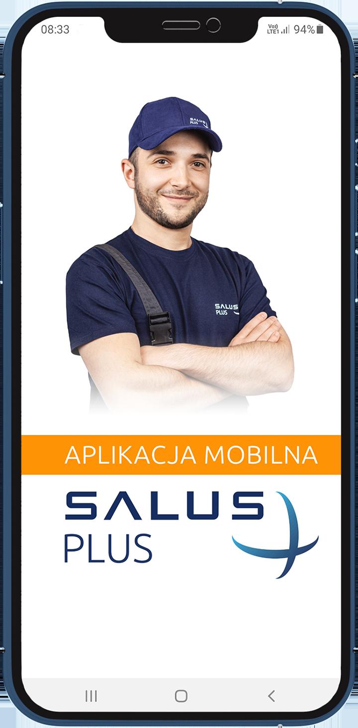 Ekran startowy aplikacji SALUS Plus